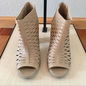 Apt 9 Open toe ankle boot sand size 8.5